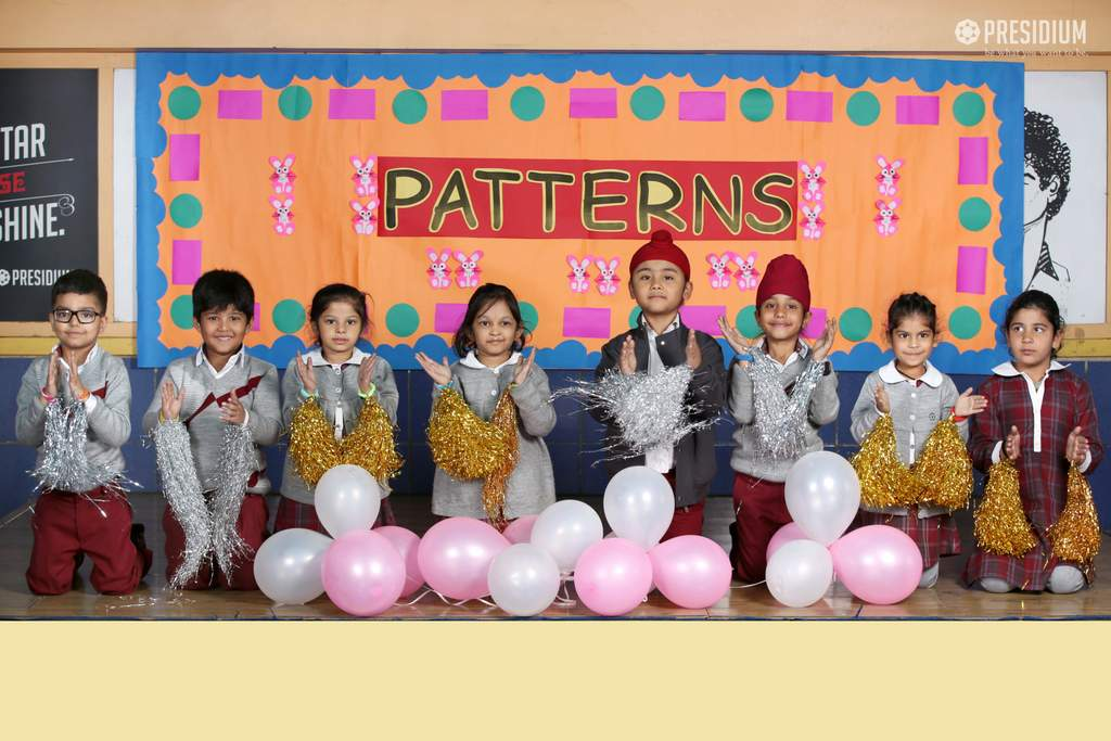 STUDENTS RECOGNIZE PATTERNS THROUGH FUN FILLED ACTIVITIES