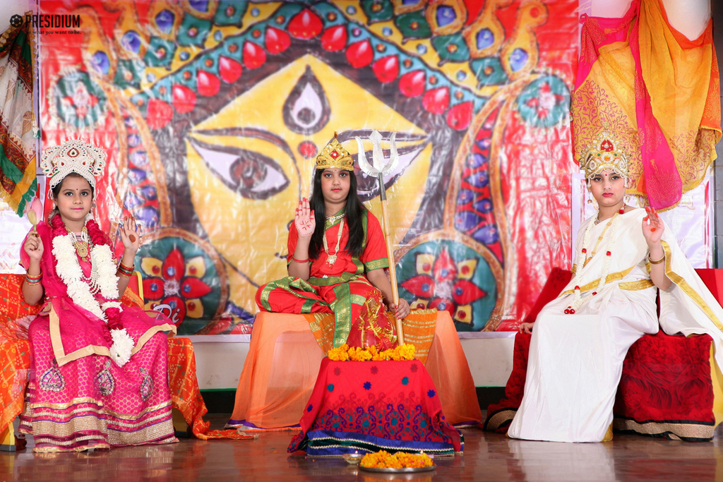 PRESIDIANS INVOKE THE BLESSINGS OF GODDESS DURGA ON 'NAVRATRI'