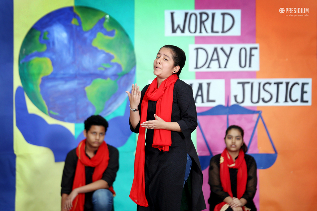 SPECIAL ASSEMBLY ON WORLD SOCIAL JUSTICE DAY 2020