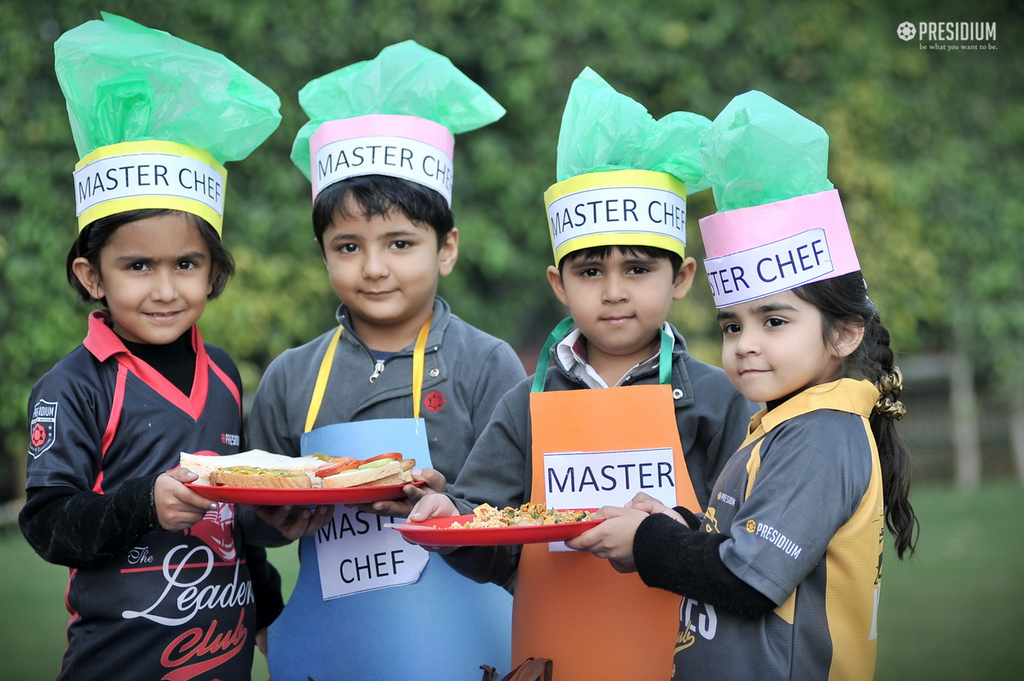 LITTLE PRESIDIANS EXCITEDLY INDULGE IN FIRE-LESS COOKING