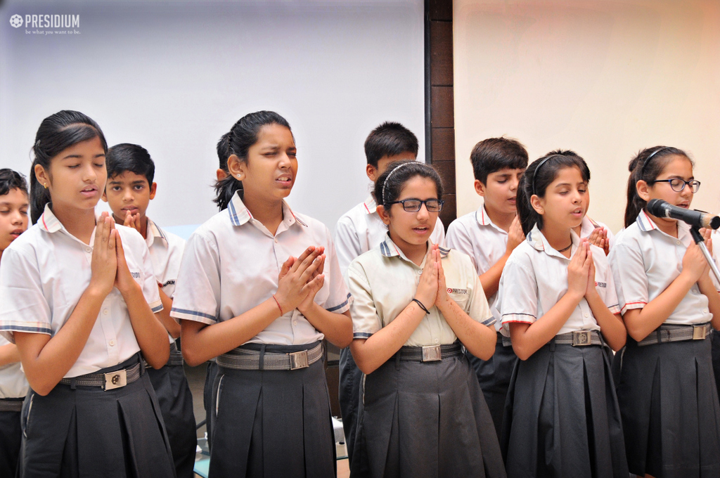 SPECIAL ASSEMBLY ON BUDDHA PURNIMA ENTHRALS YOUNG PHILANTHROPISTS