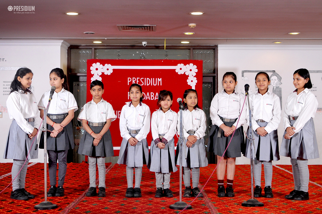 SPARSH VISITS PRESIDIUM TO THANK EVERYONE FOR THEIR DONATIONS