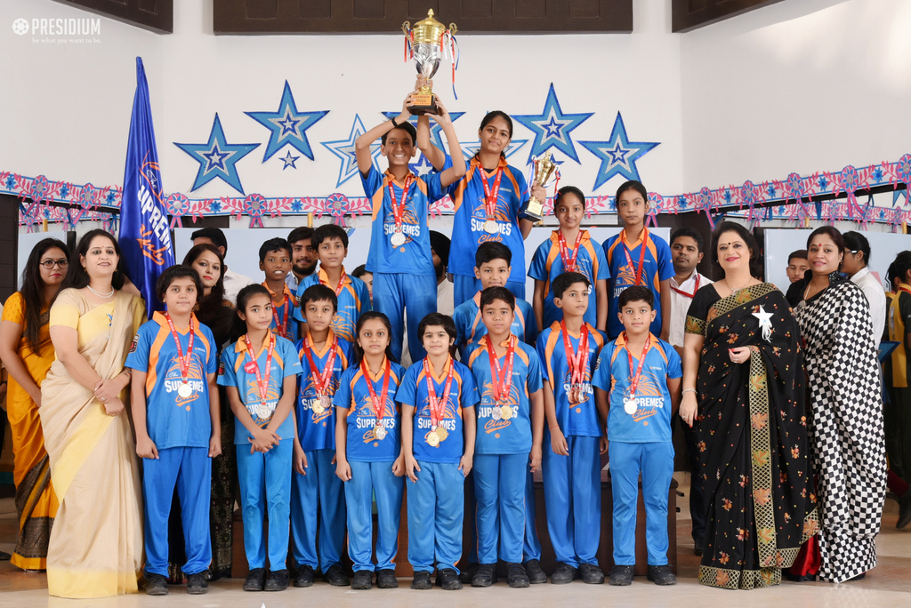 SUDHA MA'AM ACKNOWLEDGES PRESIDIANS AT SPORTS PRIZE DISTRIBUTION