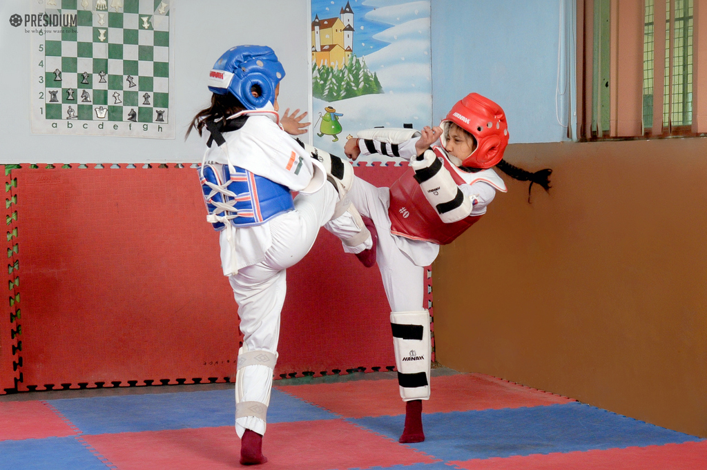 TAEKWONDO CHAMPIONSHIP:ARDENT PARTICIPATION BY MOTIVATED STUDENTS