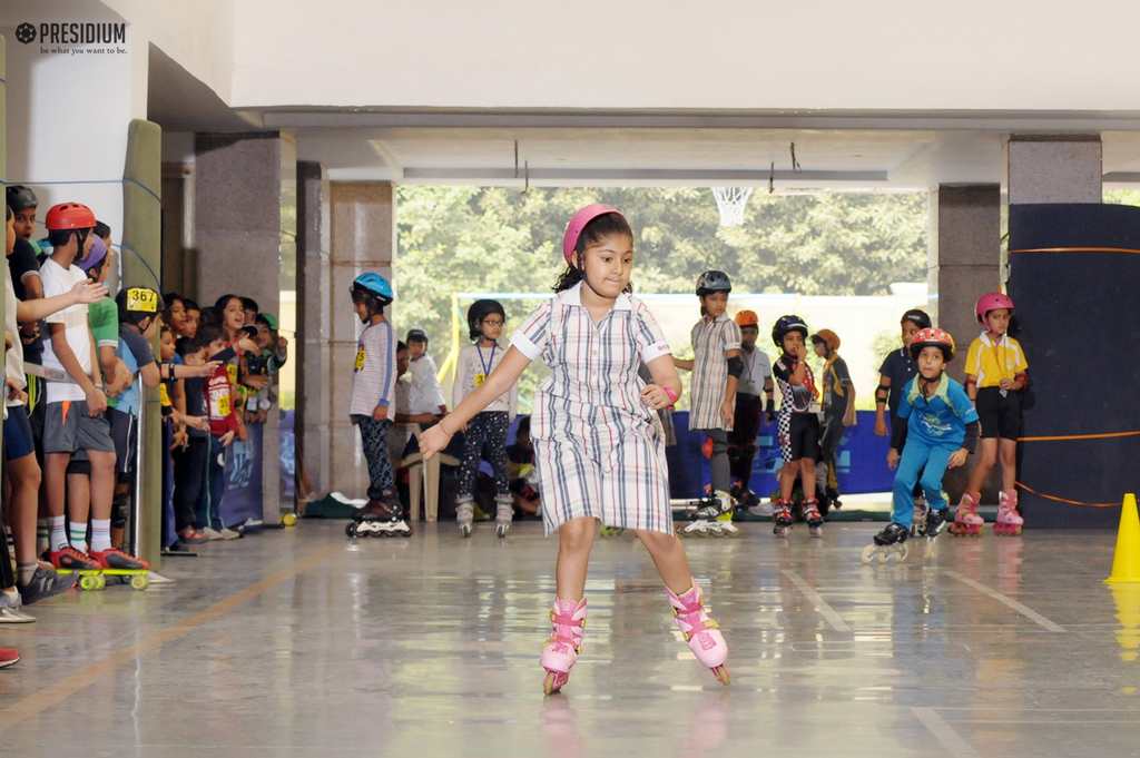1ST INTER-SCHOOL ROLLER SKATING MATCH:PRESIDIUM PROVES ITS METTLE
