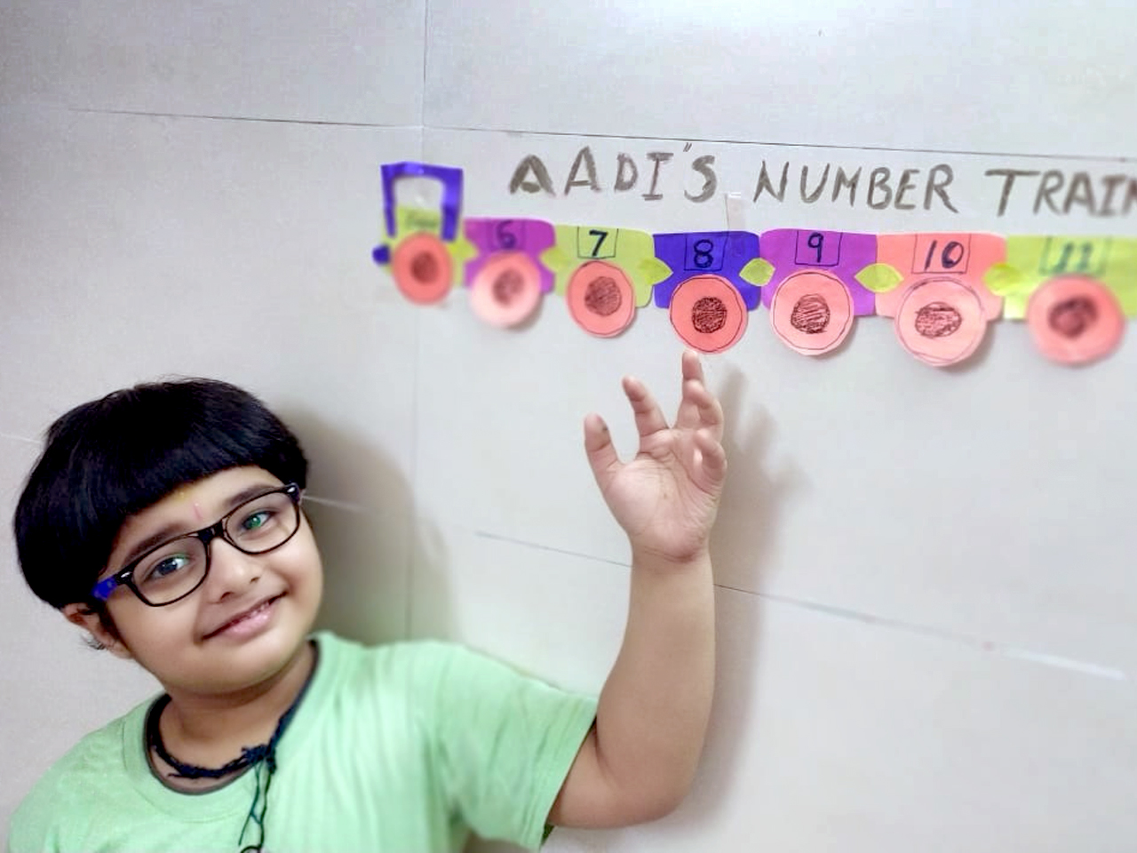 MATHS SKILLS WITH NUMBER TRAIN ACTIVITY