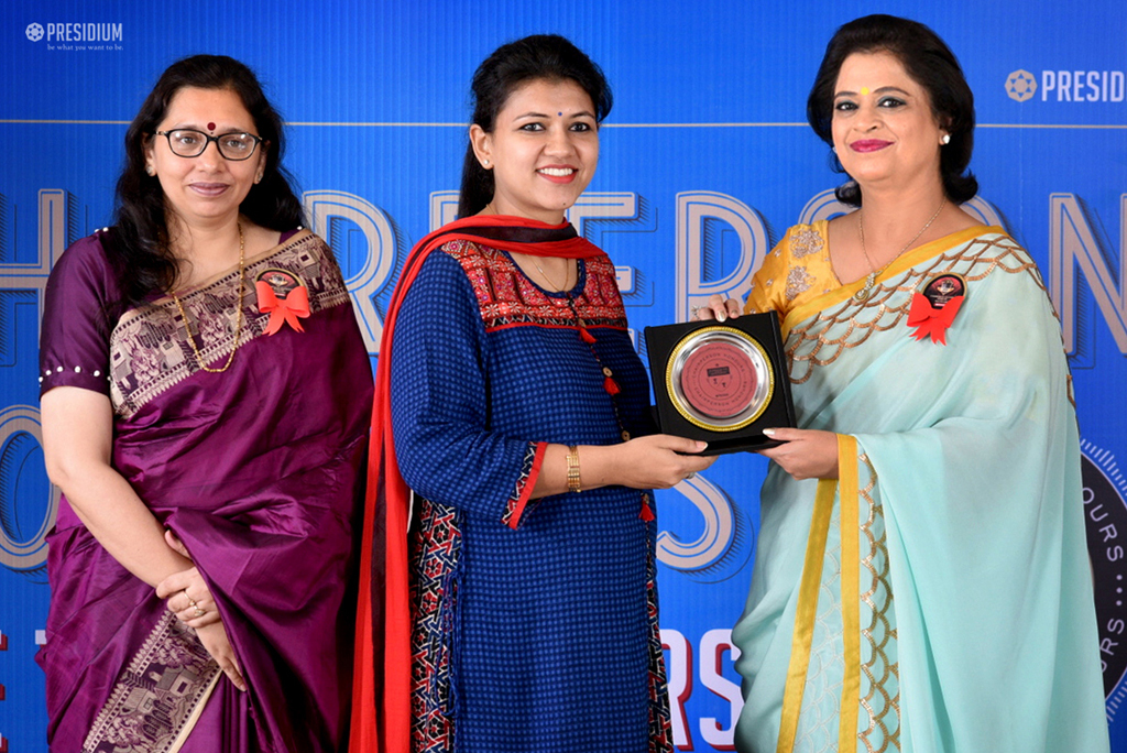 CELEBRATING ENORMOUS STRENGTH OF TEACHERS : CHAIRPERSON HONOURS
