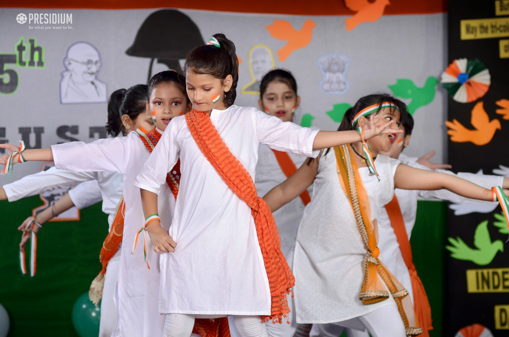 INDEPENDENCE DAY SPREE FILLS THE AURA AT SCHOOL WITH PATRIOTISM