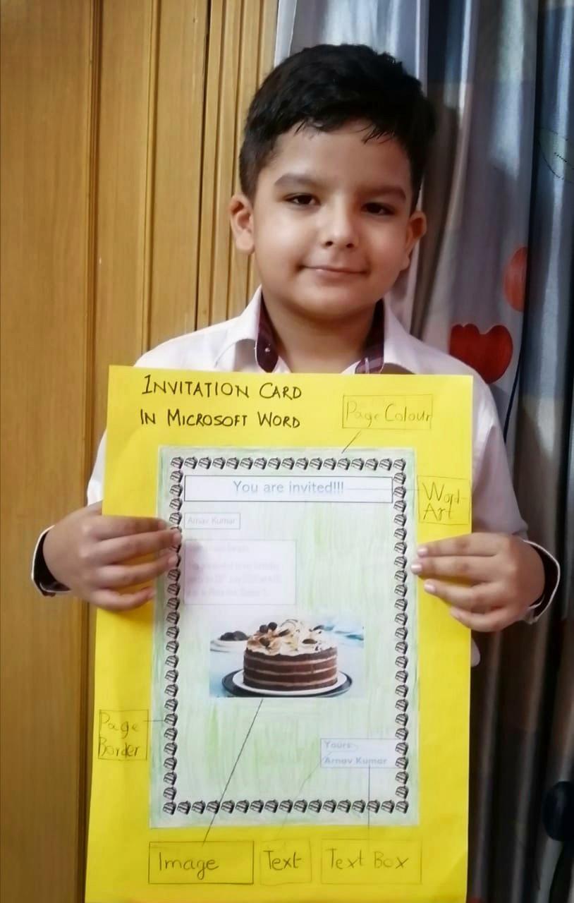 Birthday Invitation card G3 ICT