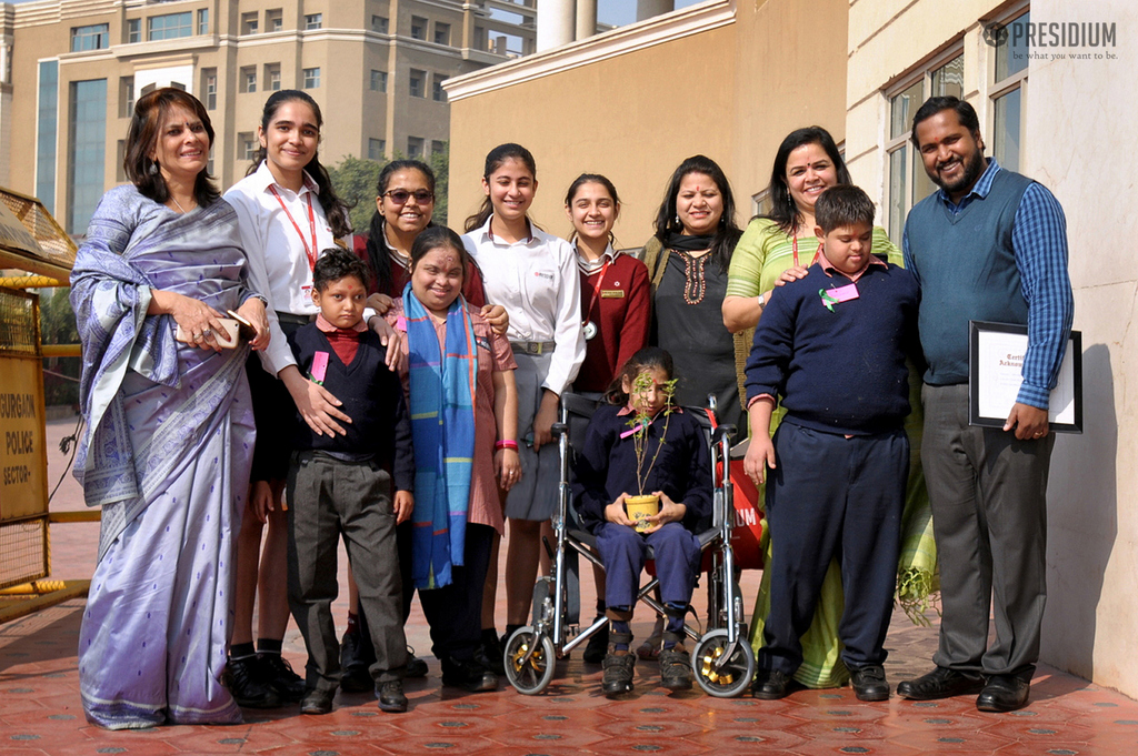 PRESIDIUM GURGAON WELCOMES THE SPARSH FAMILY WITH OPEN ARMS