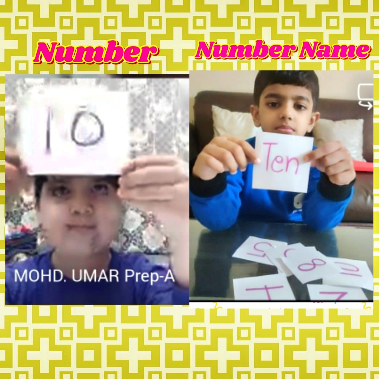 SKILLS WITH NUMBER NAMES ACTIVITY