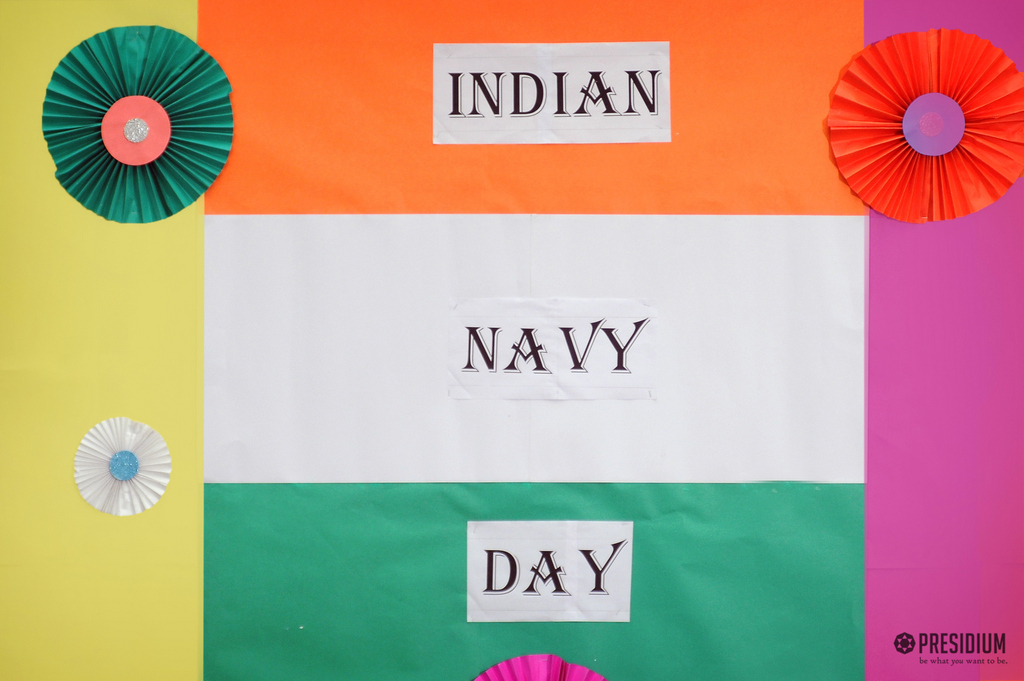 STUDENTS HONOR NAVAL FORCES FOR GUARDING US FROM SEAS ON NAVY DAY
