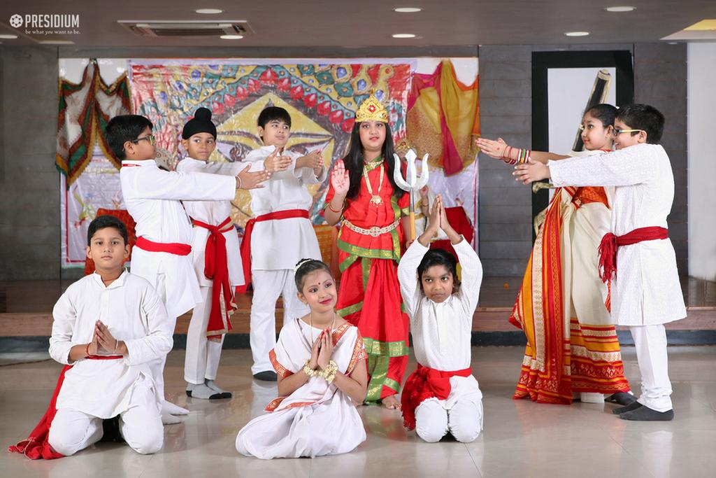PRESIDIANS INVOKE THE BLESSINGS OF GODDESS DURGA ON 'NAVRATRI'